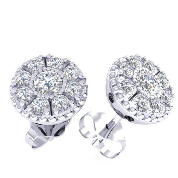 Efektne dijamantske minđuše