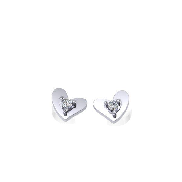 Minđuše srca sa dijamantima