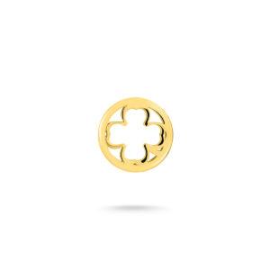 Privezak detelina od žutog zlata