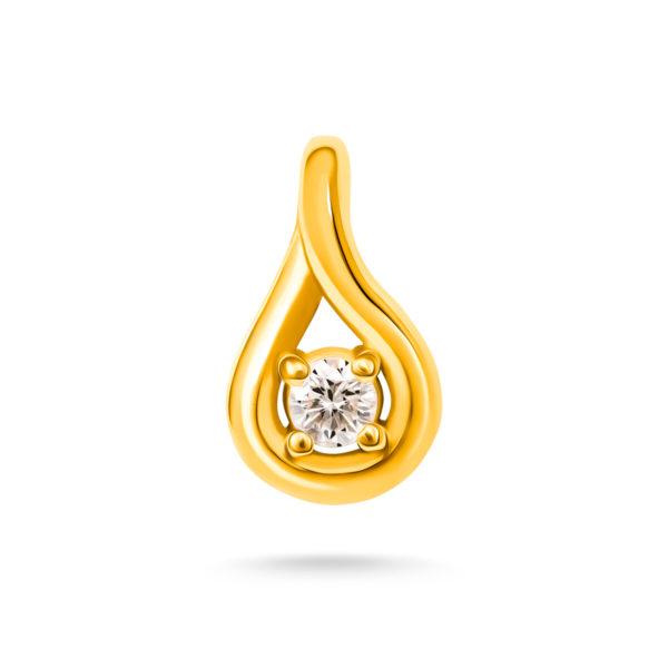 Stilizovan privezak sa dijamantom