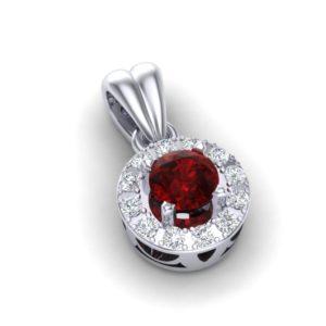 Elegantan privezak sa crvenim topazom