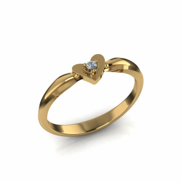 Diskretan prsten sa srcem