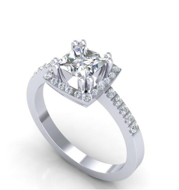 Glamurozan prsten ukrašen dijamantima