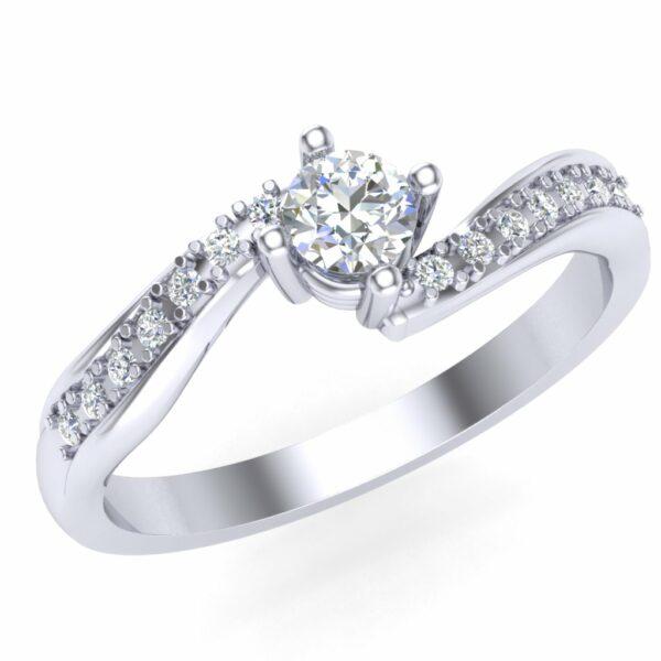 Prsten za veridbu sa brilijantima