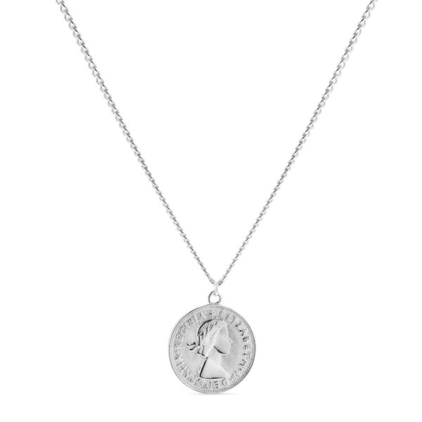 Srebrna ogrlica sa novčićem