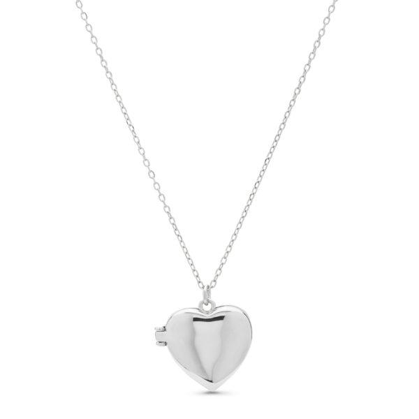 Srebrni medaljon u obliku srca