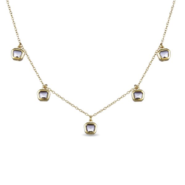 Srebrna ogrlica sa kristalima