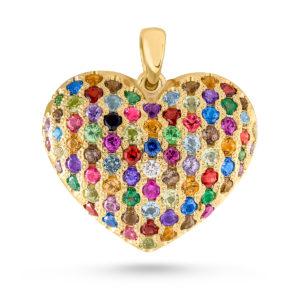 Raskošno srce sa kamenjem u boji